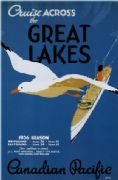 Vintage Travel Poster Canadian Pacific Great Lakes